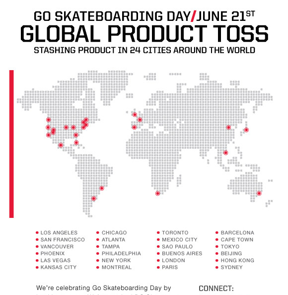 Go Skateboarding Day / June 21 - Global Product Toss