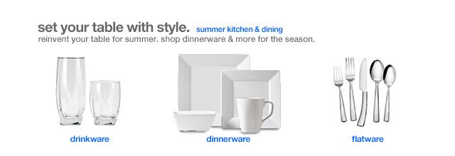 Set your table with style.