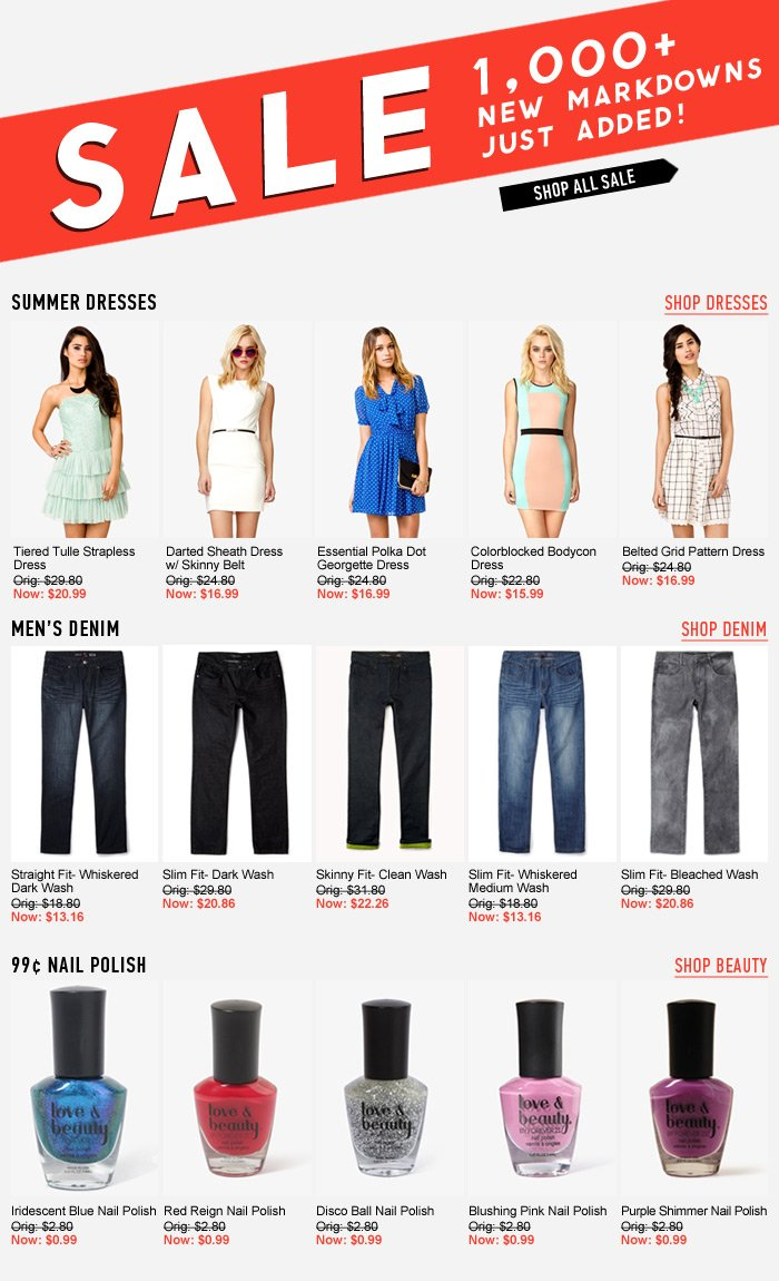 100's of New Markdowns Just Added! - Shop Now