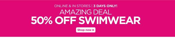 50% Off Swimwear