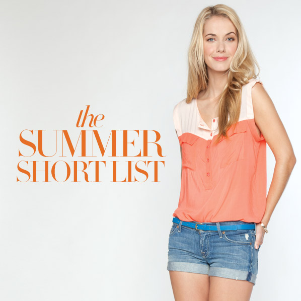 the SUMMER SHORT LIST