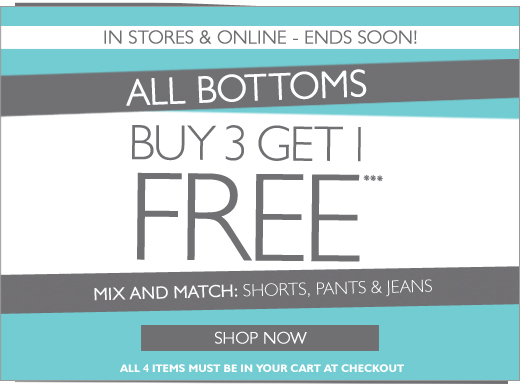Buy 3 Get 1 Free - Bottoms