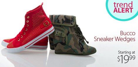 Bucco Sneaker Wedges