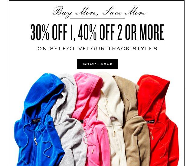 Enjoy 30percent off 1, 40 percent off 2 or more.  Shop Track.