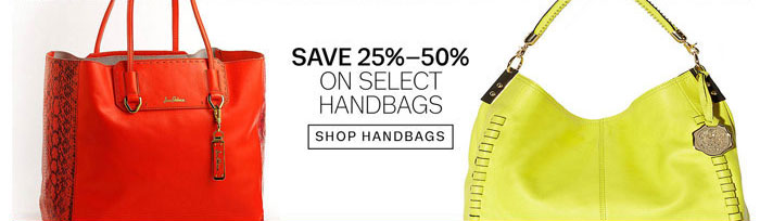Save 25%-50% on Select Handbags. Shop Handbags.