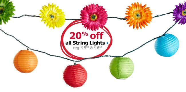 20% off all String Lights