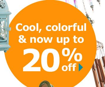 Cool, colorful & now up to 20% off