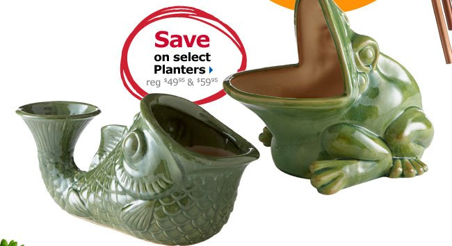 Save on select Planters