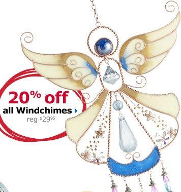 20% off all Windchimes