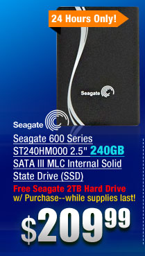 Seagate 600 Series ST240HM000 2.5 inch 240GB SATA III MLC Internal Solid State Drive (SSD)