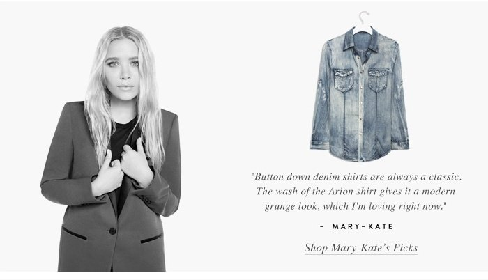 Shop Mary Kate Picks - Button Down Denim Shirts