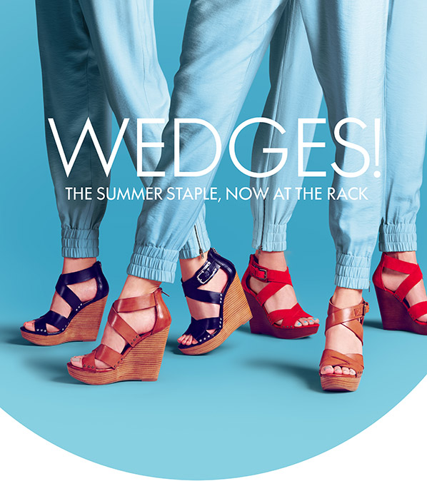 WEDGES! THE SUMMER STAPLE, NOW AT THE RACK