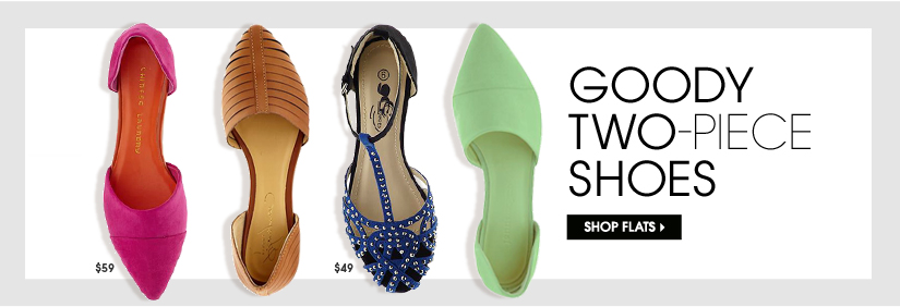 GOODY TWO-PIECE SHOES. SHOP FLATS