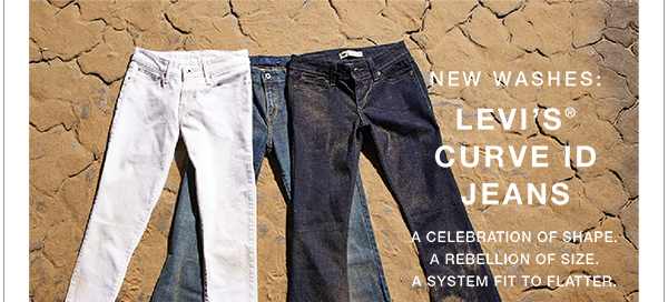 New washes: Levi's® curve ID jeans