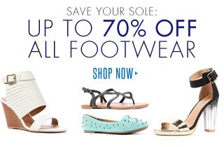 Up To 70% Off All Footwear