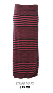 Variegated Stripe Maxi Skirt
