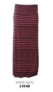 Variegated Stripe Maxi Skirt