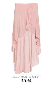 Tulip Hem Maxi Skirt