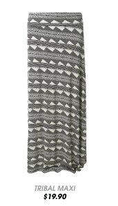 Tribal Horizontal Stripe Maxi Skirt