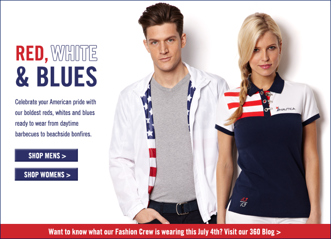 Red, Whites and Blues! Shop the collection.