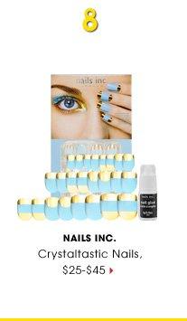 #8 Nails Inc. Crystaltastic Nails, $25-$45