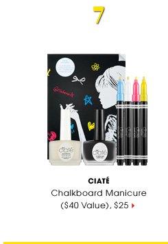 #7 CIATE. Chalkboard Manicure ($40 Value), $25