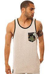 The Up Rise Tank Top in Putty Heather