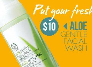 Put your fresh face forward -- ALOE GENTLE FACIAL WASH