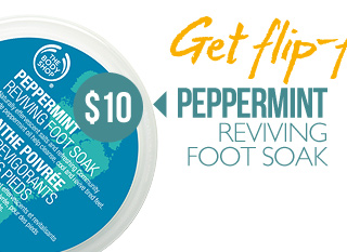 Get flip-flop ready -- PEPPERMINT REVIVING FOOT SOAK