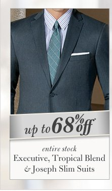 Executive, Tropical Blend & Joseph Slim Suits - Up To 68% Off*