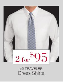 2 for $95 USD - Traveler Dress Shirts