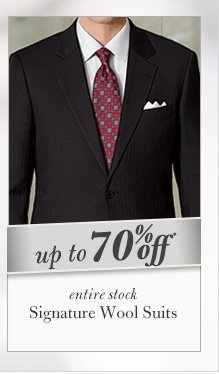 Signature Wool Suits - Up To 70% Off*