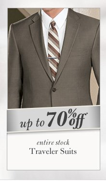 Traveler Suits - Up To 70% Off*