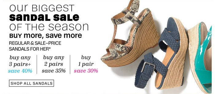 our biggest sandal sale of the season shop all sandals