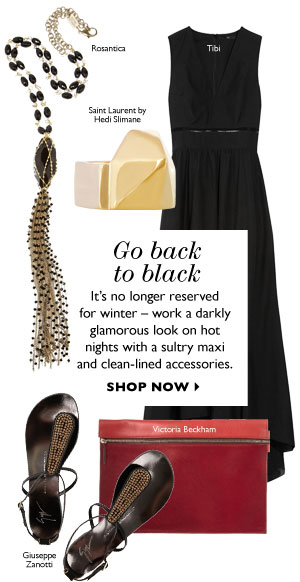 Go back to black. SHOP NOW