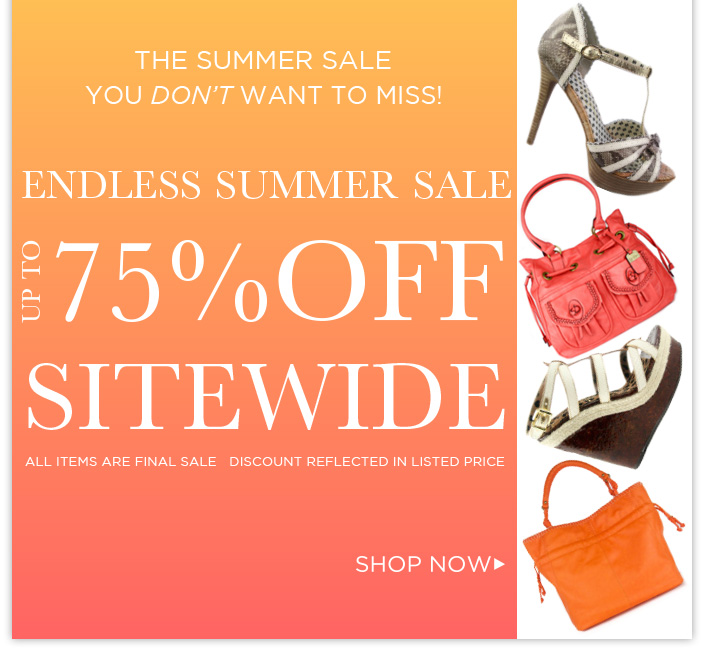 Endless Summer Sale! Up to 75%OFF Everything!