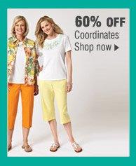 60% OFF Coordinates. Shop now.