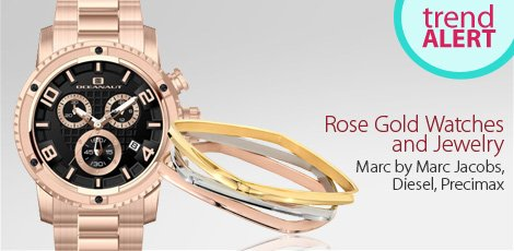 Rose Gold Watches and Jewelry