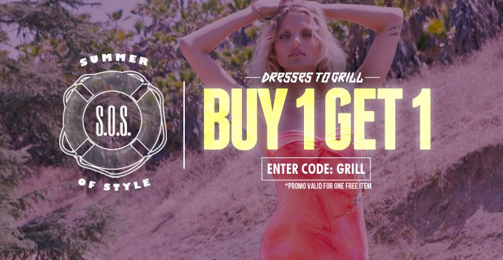 Dresses To Grill: Buy 1, Get 1 Free.