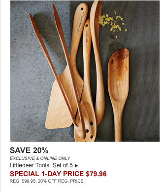 SAVE 20% - EXCLUSIVE & ONLINE ONLY - Littledeer Tools, Set of 5 - SPECIAL 1-DAY PRICE $79.96 (REG. $99.95, 20% OFF REG. PRICE)