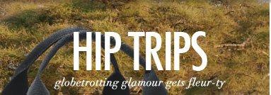Hip Trips - globetrotting glamour gets fleur-ty