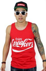 The Enjoy Sneakers Tank in Red