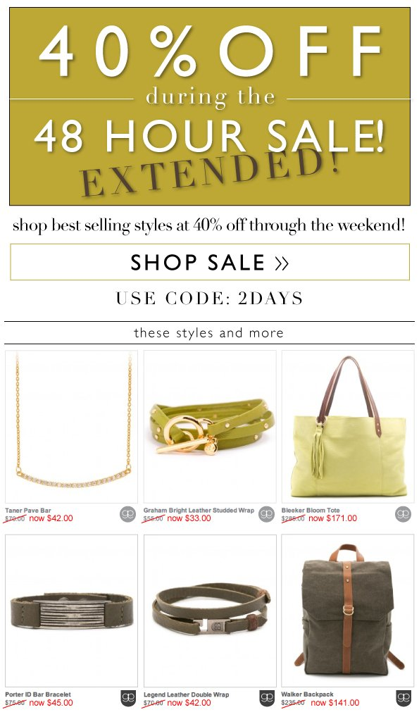 40% OFF | 48 Hour Sale Extended!