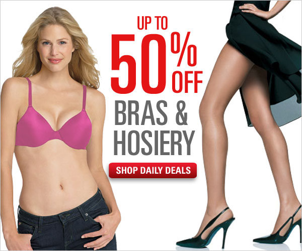 Daily Deals: Up to 50% off Bras & Hosiery