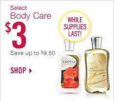 Body Care – $3
