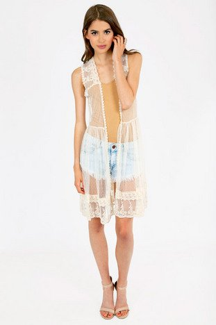 WHISPY REESE LACE COVER UP 44