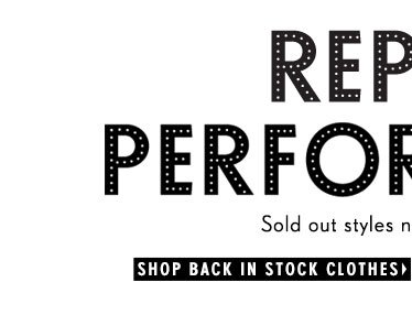 Shop Back in Stock Clothes
