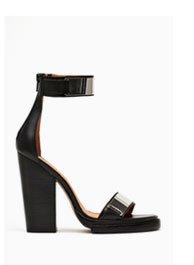 Tilda Platform Black Leather