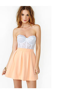 Erotica Lace Bustier White=