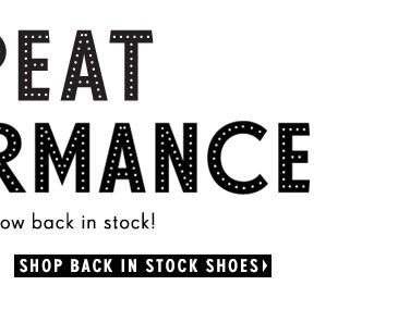 Shop Back in Stock Shoes